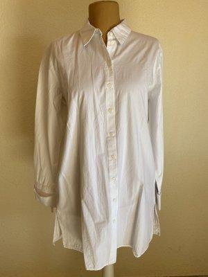 Weißes lange Bluse