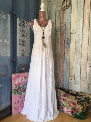 Vestido Hippie blanco Algodón