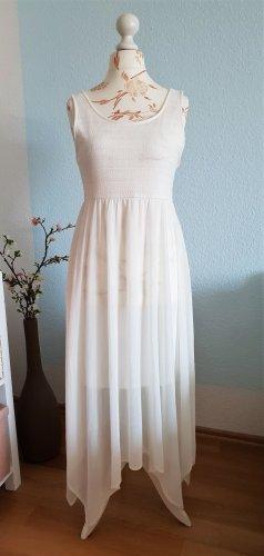 weißes, langes Sommerkleid, Strandkleid von H&M