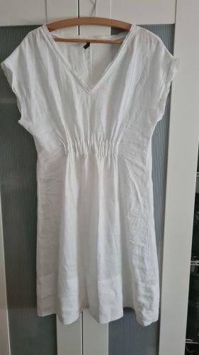 Benetton Sukienka z krótkim rękawem biały