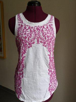 Lucky Brand Camiseta sin mangas blanco-magenta