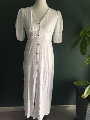 Asos Maxi abito bianco-rosa