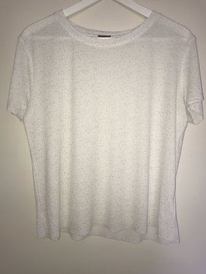 Weißes meliertes Shirt