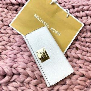 Weißes Michael Kors Portmonnaie/ Geldbörse/ Portmonee mit goldener Schnalle