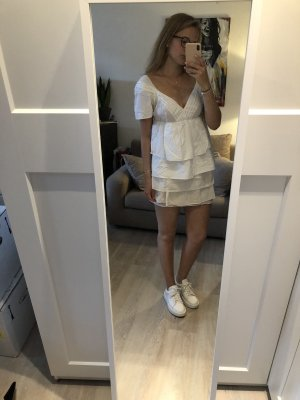Weißes Mini Kleid von Prada