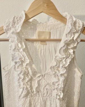 Weißes Minikleid mit Rüschen, wie neu