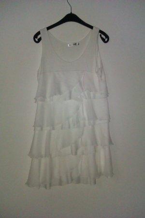 Flounce Dress white