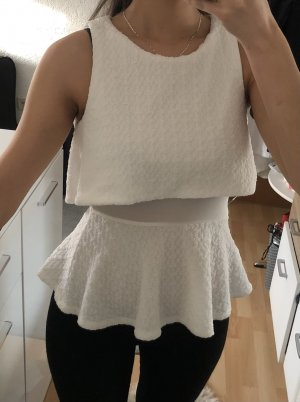 Forever 21 Frill Top white