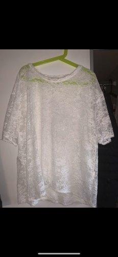 Tally Weijl Crochet Shirt white