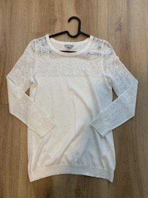 H&M Szydełkowany top biały Wełna