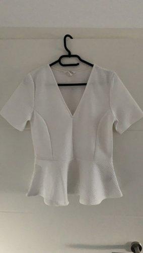 H&M Top z baskinką biały