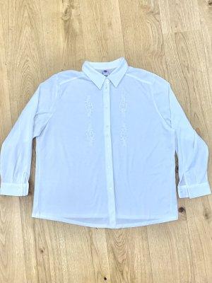 Weißes Oberteil Shirt Kragenbluse v C&A Gr.50