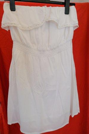 weißes  Off-Schoulder-Kleid
