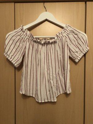 weißes off-shoulder T-Shirt