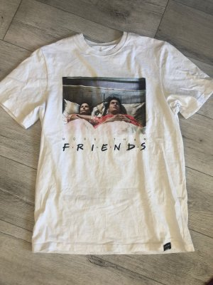 Weißes Oversize T-Shirt Friends