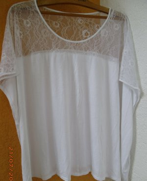 Camisa holgada blanco Viscosa