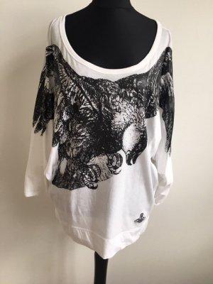Weißes Oversized Shirt mit Adler Aufdruck Vivienne Westwood.