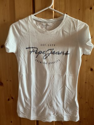 Weißes Pepe Jeans T-Shirt