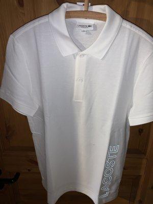 Weißes Piqué Poloshirt Lacoste Größe S