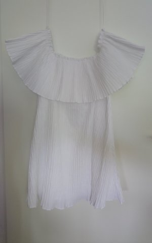 Weißes Plisseekleid Zara M