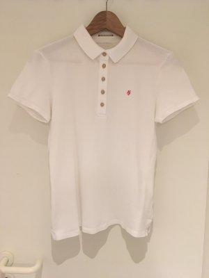 Weißes Poloshirt von Marc O'Polo in Größe M (38)