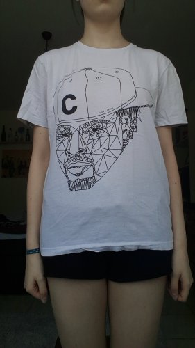 Jack & Jones Print Shirt white-black cotton