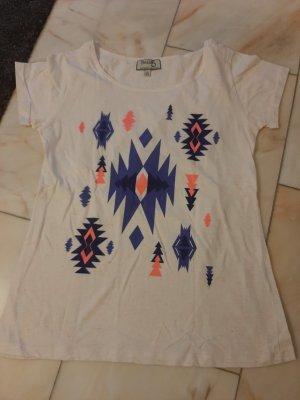 Weißes Printshirt