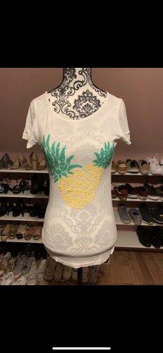 Weißes Printshirt Mango Jeans