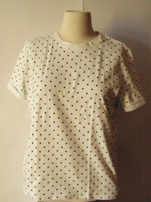 Weißes Pünktchen-T-Shirt