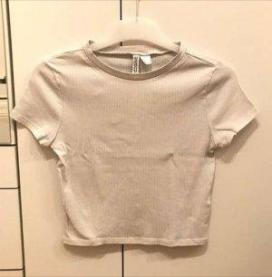 H&M Divided Ribbed Shirt white