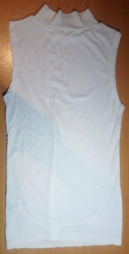 Camisa de cuello de tortuga blanco