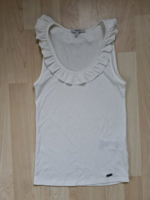 Pepe Jeans Frill Top white