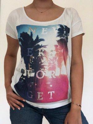 Weißes s.Oliver T-shirt mit Aufdruck