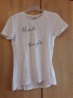 Weißes S.Oliver T-Shirt mit Schrift