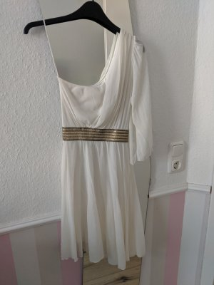 One Shoulder Dress white-gold-colored