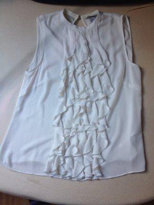 Weißes schickes top mit rüschen vorne