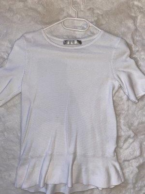 Hallhuber Donna Ribbed Shirt white