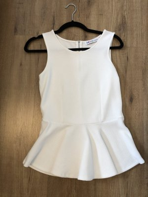 Even & Odd Peplum Top white
