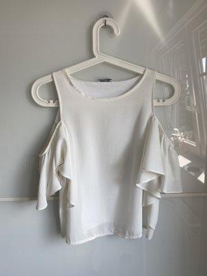 Weißes Schulterfreies Oberteil von Zara