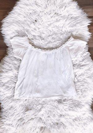 Weisses schulterfreies Shirt