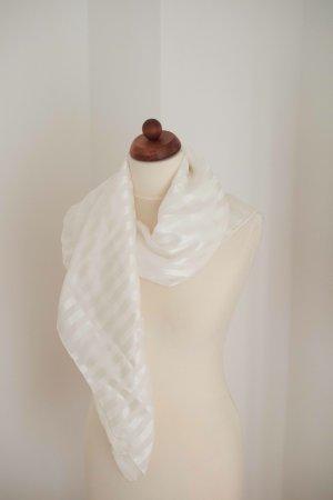 Handarbeit Foulard en soie blanc soie