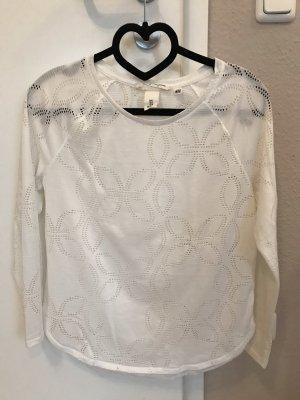 H&M L.O.G.G. Camisa de malla blanco
