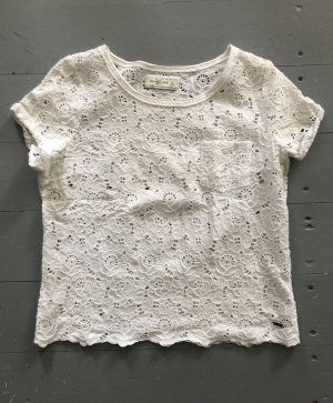 Abercrombie & Fitch Crochet Shirt white