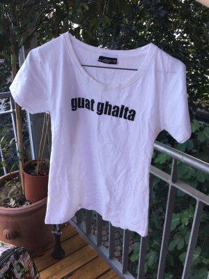 Weißes Shirt Basic, mit lustigem schwäbischem Schriftzug
