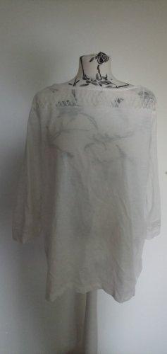 C&A Camisa de cuello barco blanco