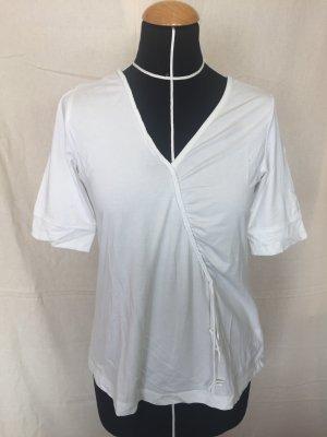 Sandwich V-Neck Shirt white