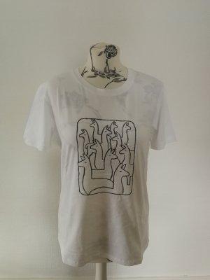 Armedangels T-shirt blanc-noir