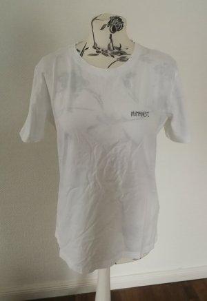 armedangels T-shirt wit-zwart