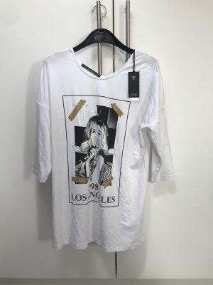 Weißes Shirt mit Aufdruck von Guess Neu mit Etikett