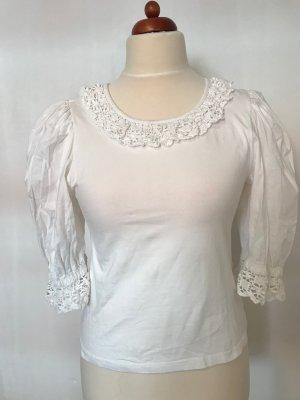 Blouse bavaroise blanc coton